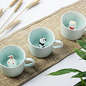 ZaH 300ml 3D Animal Cup Morning Mug