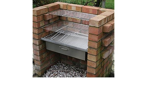 SunshineBBQs Acero Inoxidable Barbacoa de Ladrillos Kit de instalación y Accesorio para el Horno: Amazon.es: Jardín