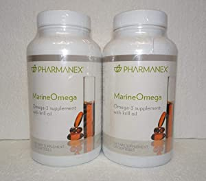 Pack of Two: Pharmanex Marine Omega MarineOmega 120 Softgels x2