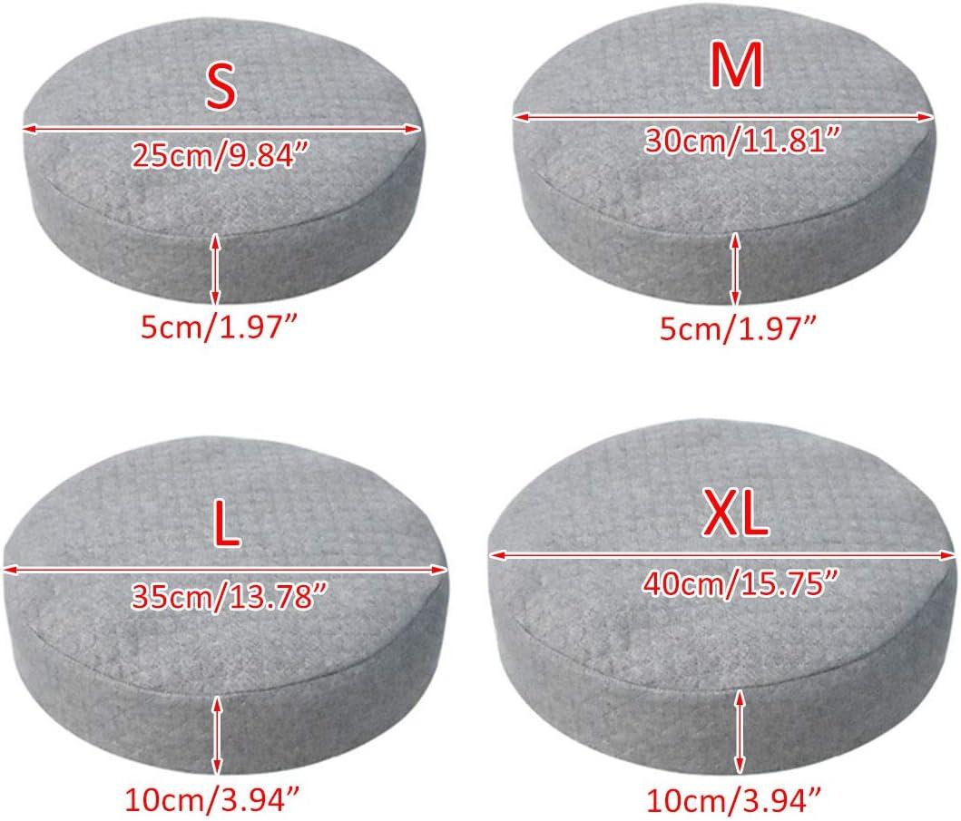 FREAHAP R Housse de Chaise Extensible en Coton et Lin Couverture de Protection pour Tabouret Chaise Si/ège Couvre Tabouret Beige S 25cm