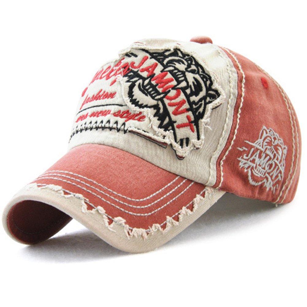 Tioamy Baseball Kappe Basecap Unisex Einstellbare Retro Baseball Hut Freizeit Cap modischste Cotton Cap Schreiben Outdoor Hut f/ür M/änner und Frauen