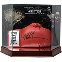 $299 » Mike Tyson Signed Everlast Boxing Glove In Photo Background Glove Case JSA