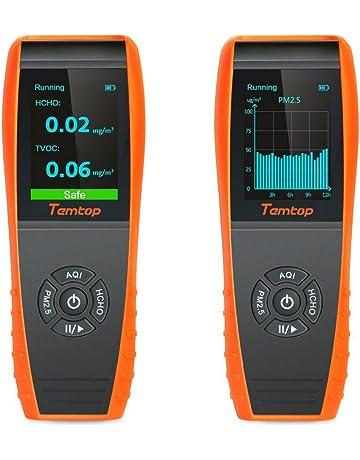 LKC-1000S+ - Detector de aire para interiores con monitor de temperatura y humedad profesional