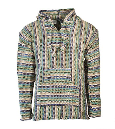 Funny Guy Mugs Premium Baja Hoodie Sweatshirt Pullover Jerga Poncho (Element, X-Large)