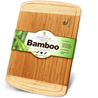 Midori Way Thick Bamboo Cutting Board with Juice Grooves