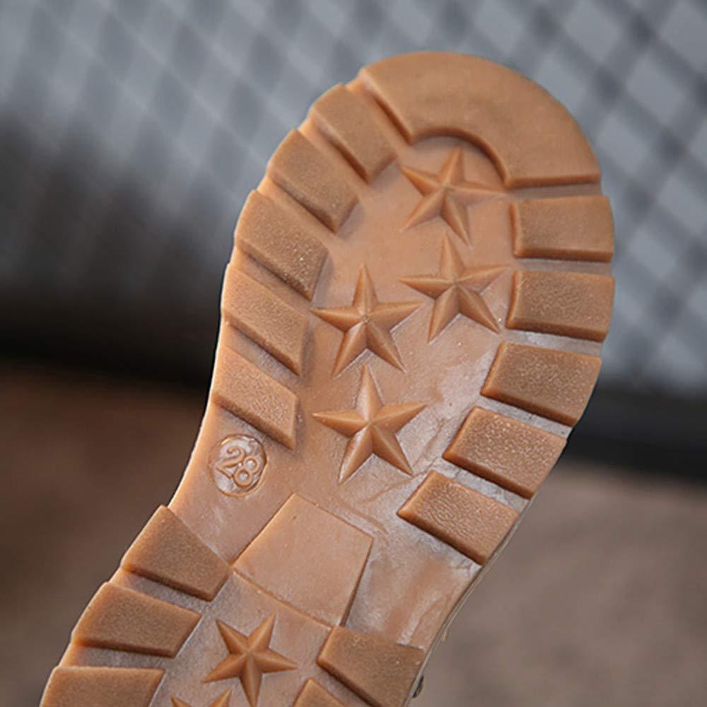 ❤ Botas de Remache para niños, otoño Invierno niños niños Botas Zapatos para niños Botas con Cremallera Botas Casuales Absolute: Amazon.es: Ropa y ...