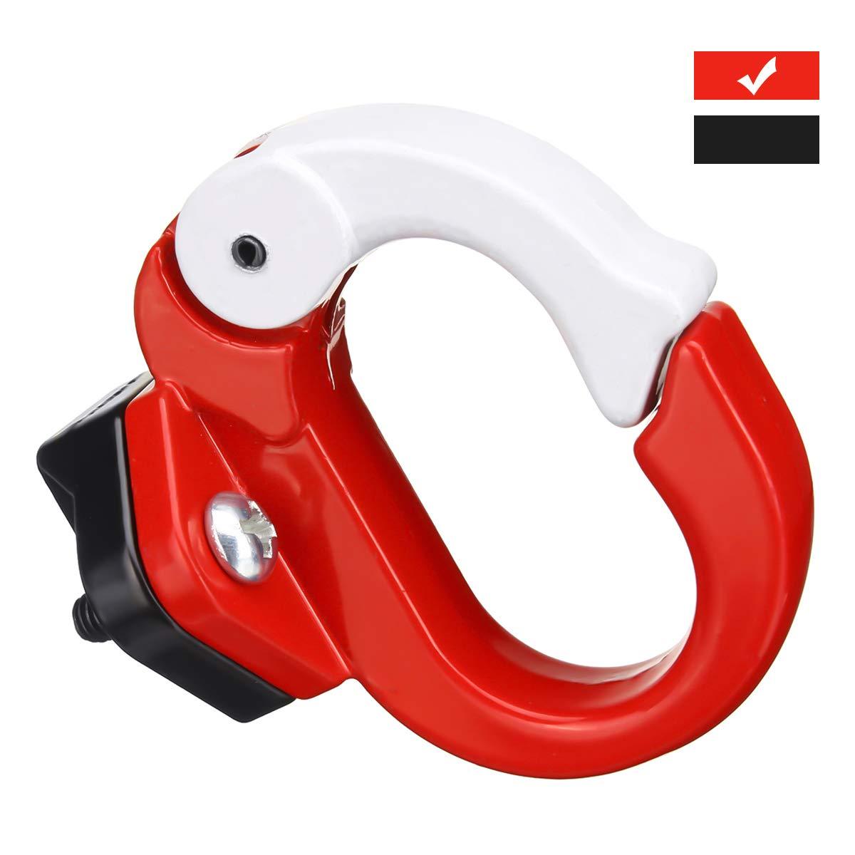 Charminer Kit de Montaje de Ganchos de Metal Adecuado Estante para Xiaomi Scooter Elé ctrico, Accesorios de Bicicleta Rojo Rojo