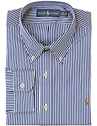 Polo Ralph Lauren Men\u0026#39;s Standard-Fit Striped Poplin Dress Shirt
