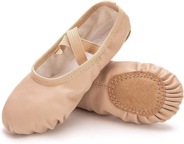 Amazon.com: Sandalias de ballet para niñas/niños/niñas ...