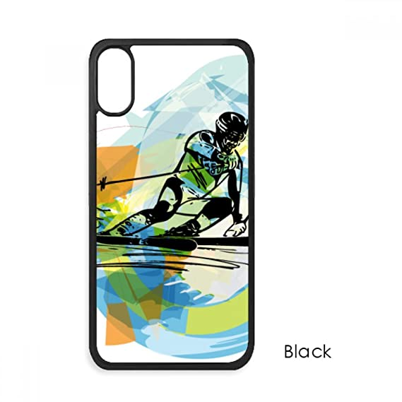reputable site c1602 d613b Amazon.com: Athletes Skiing Sports Freestyle Watercolor for iPhone ...