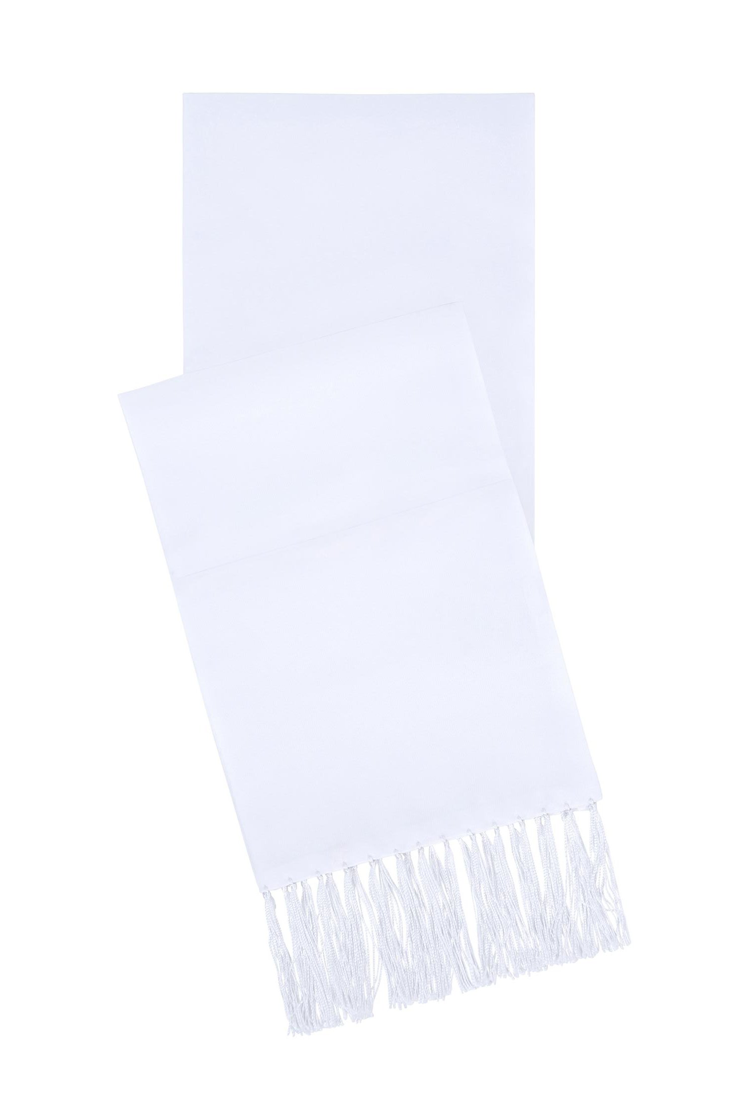 White Satin Formal Scarf, By S.H Churchill