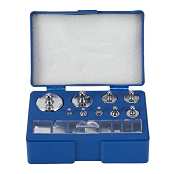 Echony - Kit de pesas de calibración de precisión, 17 piezas, 211,1