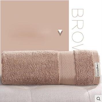 YUJIN Toallas de hoteles Adultos de algodón para Aumentar Las Toallas de baño Suaves par más Grueso el 140 * 80cm, Brown: Amazon.es: Hogar