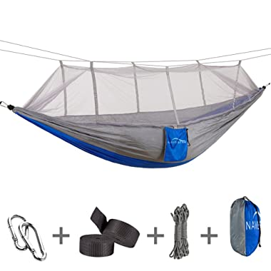 NAVESTAR Double Hammock Mosquito Net, 440 Pounds Capacity, Sturdy & Lightweight Outdoor Backpacking Camping Trip Hiking/Indoor Garden Yard