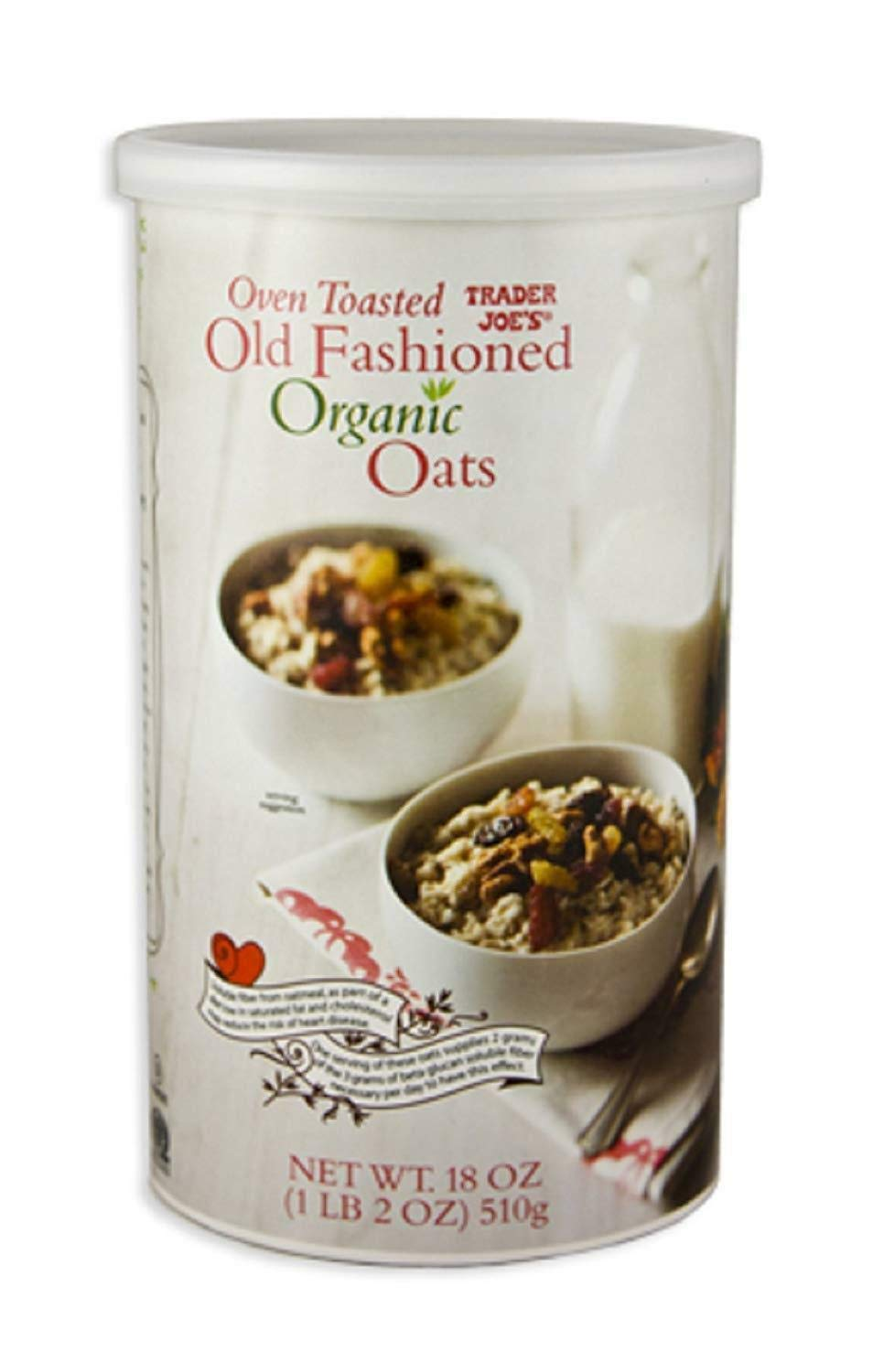 2 x Trader Joes Oven Toasted Old Fashioned Organic Oats 18-oz