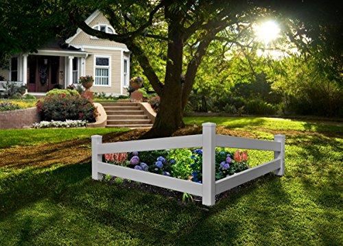 (New England Arbors VA20236 Split Rail Corner Picket Fence,)
