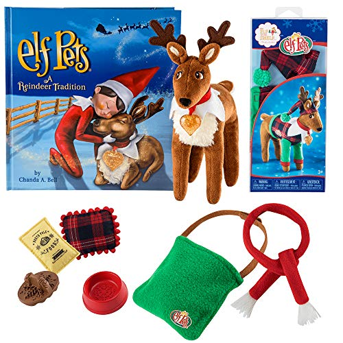 Elf on the Shelf Pets Reindeer with Reindeer Pajamas and Elf Pets Accessories Kit