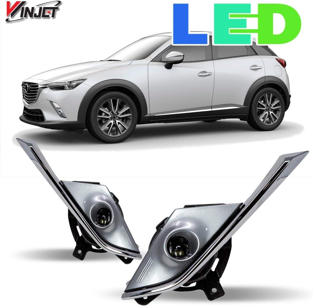 CX3 ,Fit Hook Arms 2015 2016 2017 2018 WJUKC Windscreen Hybrid Wiper Blades,for Mazda CX-3