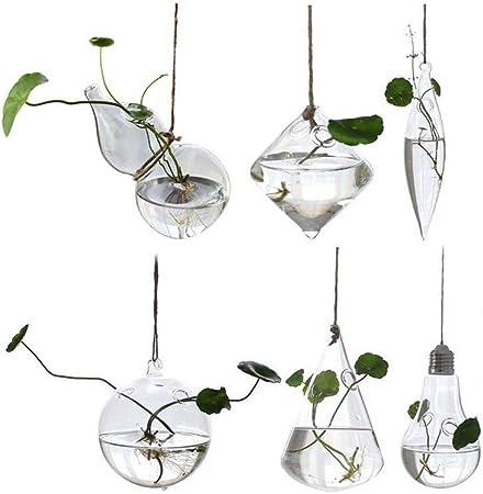 Hanging Glass Ball Vase Flower Plant Vase Terrarium Container Party Wedding Deco