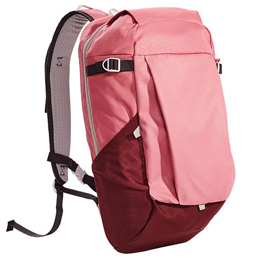 Pink 20L Outdoor Casual Travel Backpack Lightweight 20l, Polyester Schoolbag Multi-Pocket Trekking Rucksack for Men Women