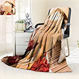 DOLLAR Blanket,edible bird s nest in the bamboo steamer chinese food style Traveling, Hiking, Camping, Full Queen, TV, Cabin, Couch, Bed Throw(60''x 50'')