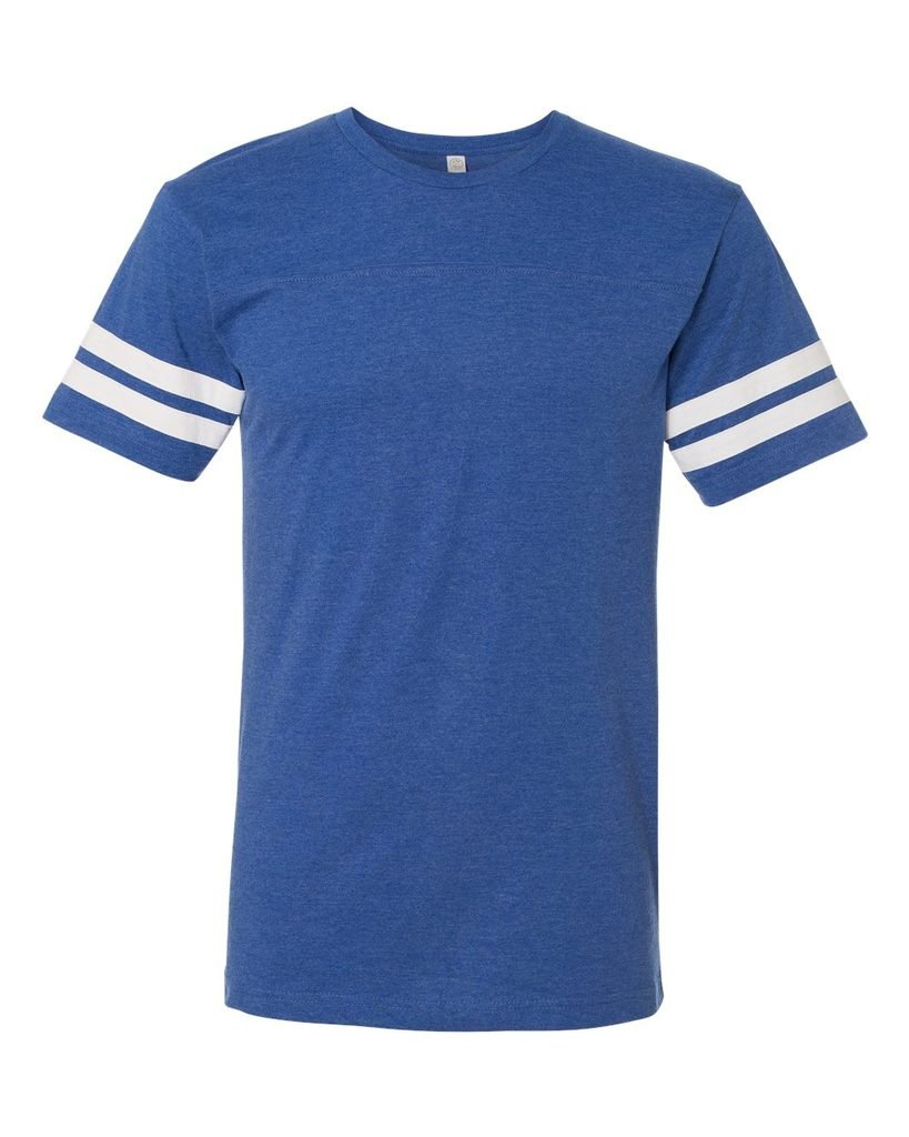 Football Fine Jersey Tee Shirt, Royal/White, 3XL