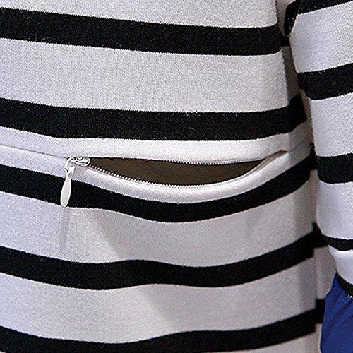 Estivo Abito Allattamento Bozevon Moda Vestito Manica shirt T Per Cotone Bianco Casual Corta Sottile Premaman Donna B55qxwnfP