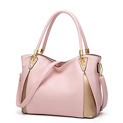da02598123 Amazon.com  Montmo Women Soft Leather Handbags Casual Simple Hobo Style Shoulder  Bags Tote Cross Body Purses (Pink-1)  Shoes