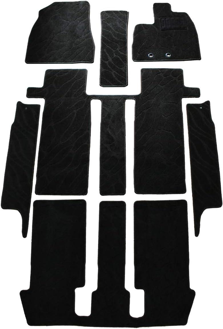 こちらの商品は、トヨタ ノア ヴォクシー エスクァイア 80系 / ガソリン車 / ハイブリッド車 フロアマット & ステップマット セット 織柄黒になります。