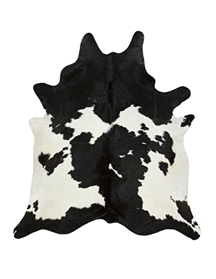 a star large white cowhide rug black and white cow hide rug 5x6 - Cow Hide Rug