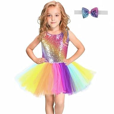 e14ba274e4ad Amazon.com  Tsyllyp Girls Tutu Dress Dance Party Gown Princess ...