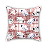 PILLO geometry cushion covers 18 x 18 inches / 45 by 45 cm gift or decor for club,chair,kids,christmas,living room,bedding - both sides