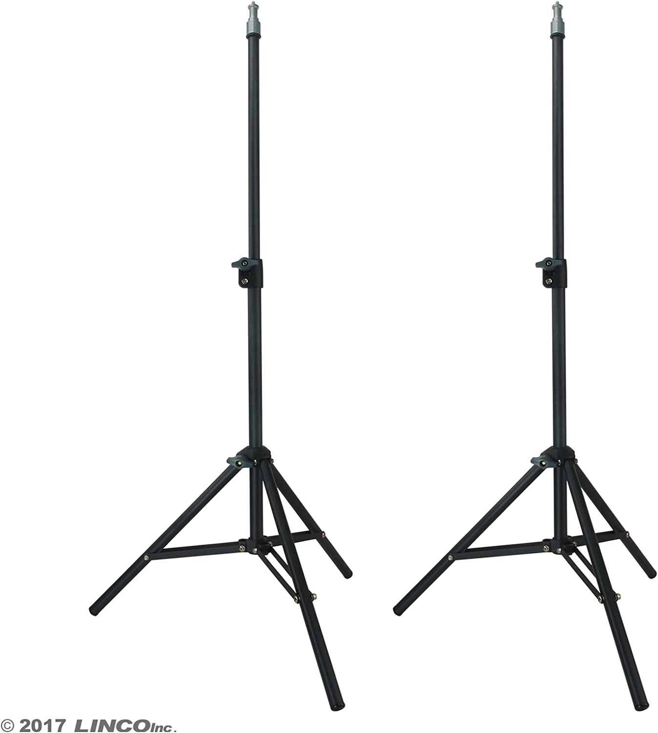 LINCO Zenith 35 Inch Mini Light Stand Set of Two Photography Back Light Stands for Relfectors Umbrellas Lights Backgrounds Softboxes