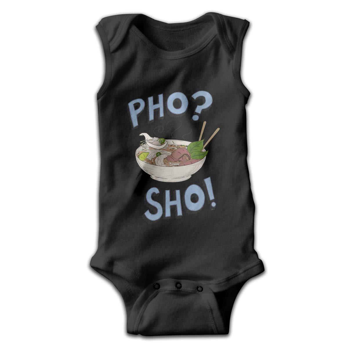 Efbj Newborn Baby Girls Rompers Sleeveless Cotton Onesie,Pho Sho Bodysuit Autumn Pajamas