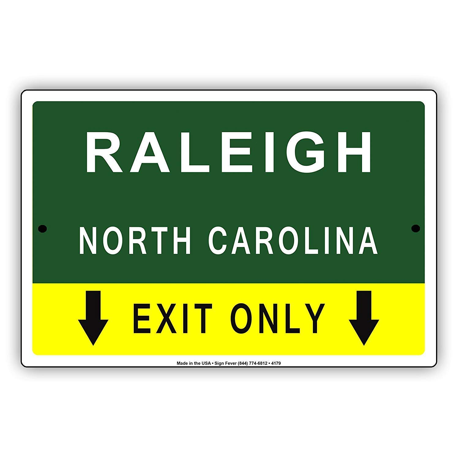 JIA KOAH Raleigh North Carolina Exit Only with Pointer Arrow ...