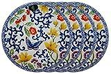 Ralph Lauren Mandarin Blue Collection 9 1/4'' Butterfly Lunch Plate (Set of 4)