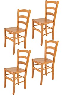 Tommychairs sillas de Design - Set 4 sillas Modelo Venice para Cocina, Comedor, Bar