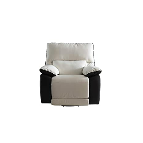 Miraculous Modern Two Tone Bonded Leather Oversize Recliner Living Room Set 1 Seater Uwap Interior Chair Design Uwaporg