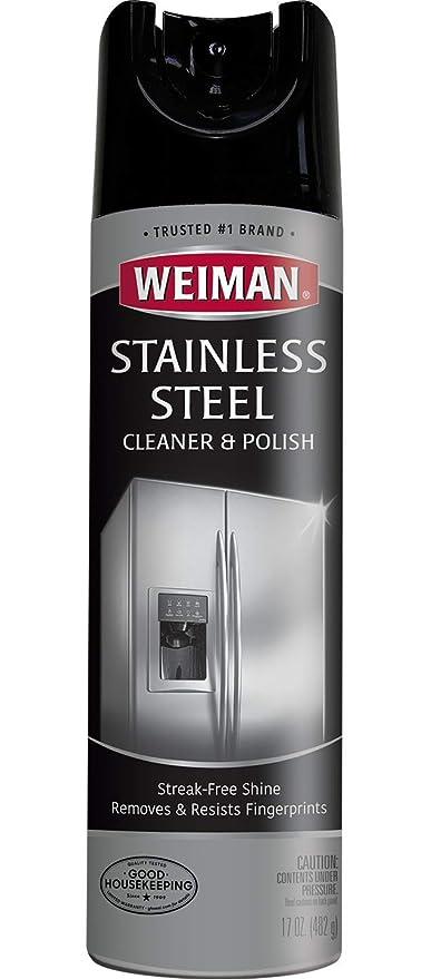 Amazon.com: Weiman - Limpiador de acero inoxidable y aerosol ...