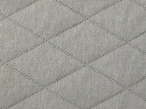 Double Sided Quilted Jersey Dress Fabric Grey - per metre (Jersey Quilted)