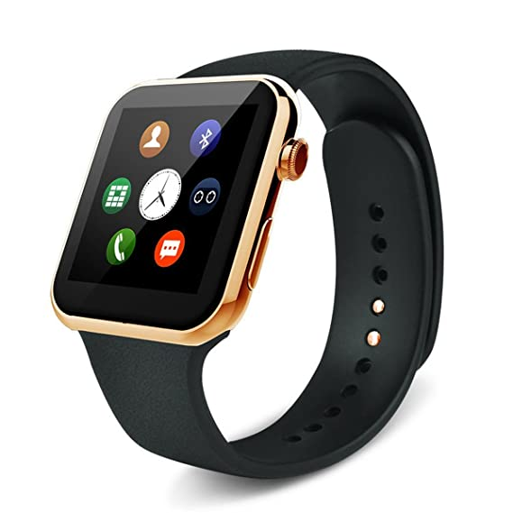 A9 Heart Rate Monitor Smart Watch Fitness Tracker with HD DP Bluetooth Compatible with Samsung Galaxy S4/S5/S6 Edge/Note 4/Note 5 HTC Sony LG Huawei ...
