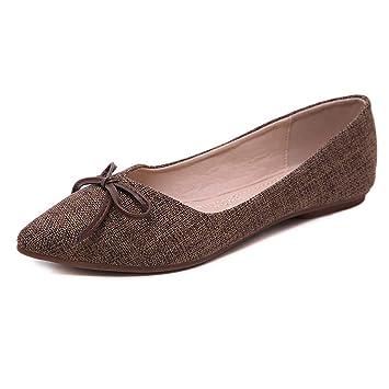 Arco Puntiagudo De La Mujer Zapatos Planos Casuales Zapatos De Trabajo Mocasines Zapatos Bombas De Moda