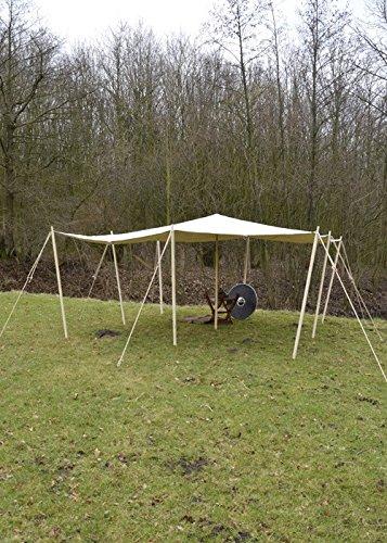 Battle-Merchant Hochwertiges extra Starkes Sonnensegel, mit Schlaufen, 450 g m², naturfarben LARP Verschiedene Größen
