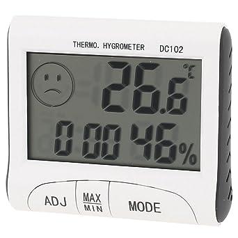 LCD cubierta de reloj digital de alarma Todos los días 12h / 24h metereológi