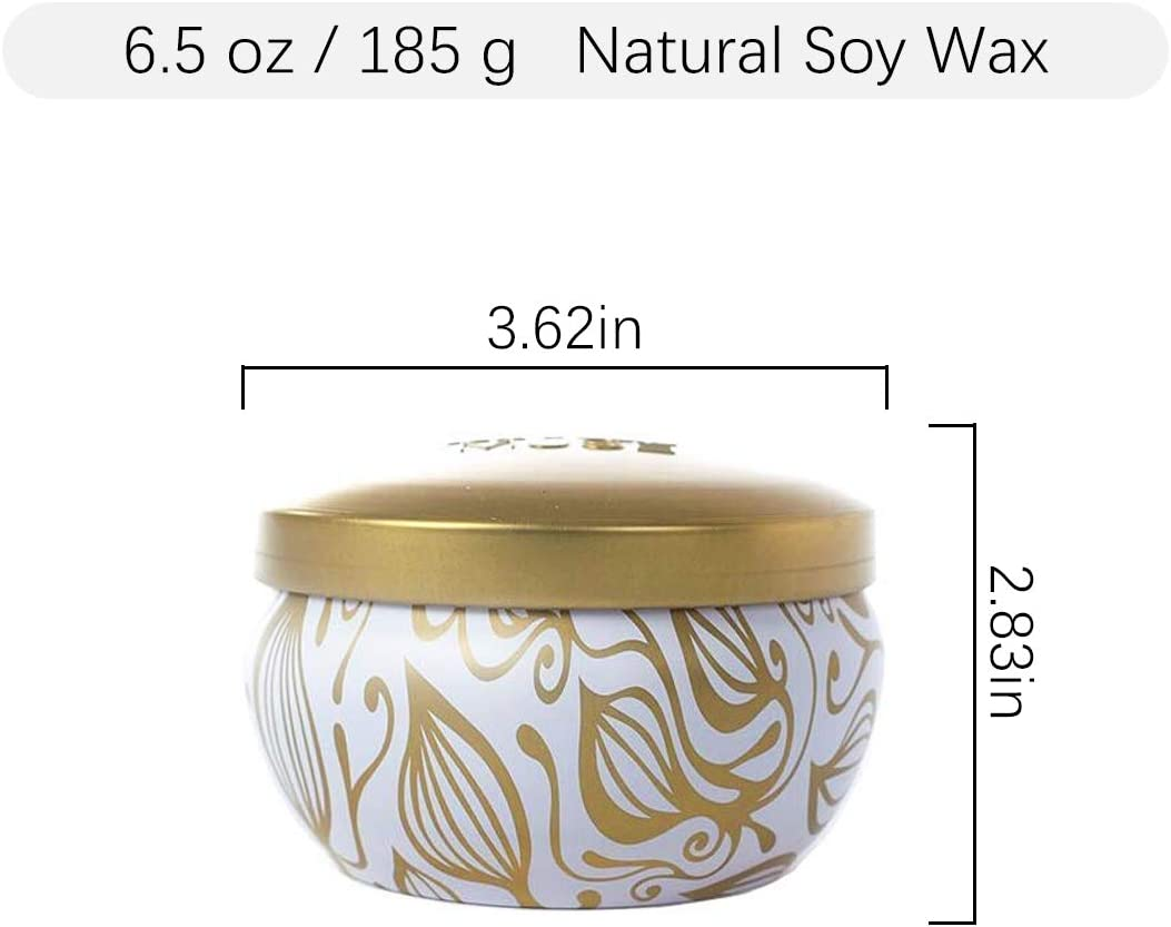 Aromatherapy Scented Candles - Vanilla Coconut Essential Oil Soy Wax Stress Relief Candle, 6.5 Oz Travel Tin Decorative Candle, Birthday Relaxing Candle Gift for Women: Home & Kitchen