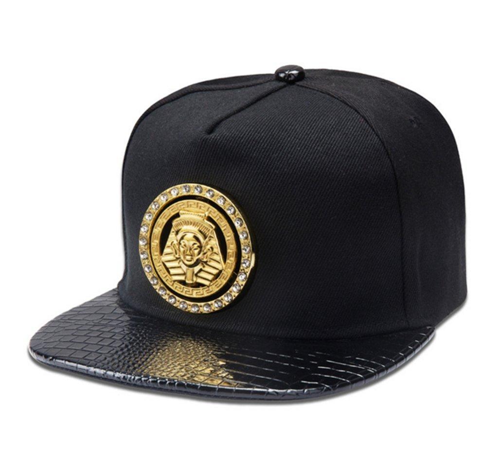 02fe45cf Amazon.com : LEEYA NYU16 Pharaoh Metal Mark Hip-Hop Tide brand Cotton Flat-brimmed  hat (Black) : Baby