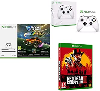 Microsoft Xbox One S - Consola 1 TB + Rocket League, Blanco + Red ...