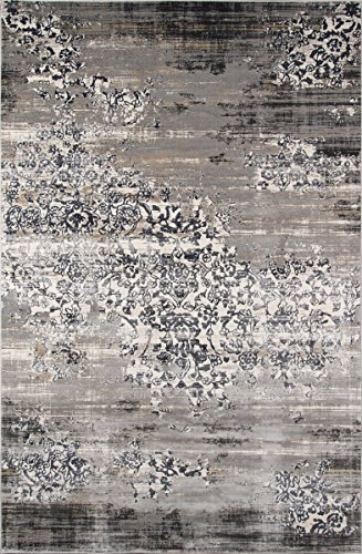 (Momeni Rugs JULIEJU-05GRY5076 Juliet Collection Area Rug, 5'0