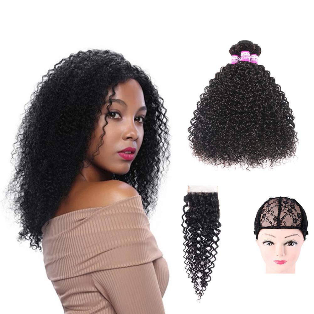 Brazilian Superlatite Virgin Curly Hair Weave 3 Bundles Closure Lace with Max 80% OFF Fr