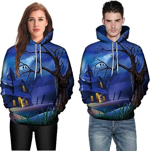 Crew Neck Graphic 3D Print Men Women Hoodie Pullover Coat Sweatshirt Jumper Tops